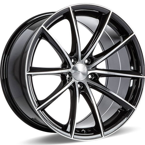 Ace Alloy Convex D704 Gloss Black with Machined Face