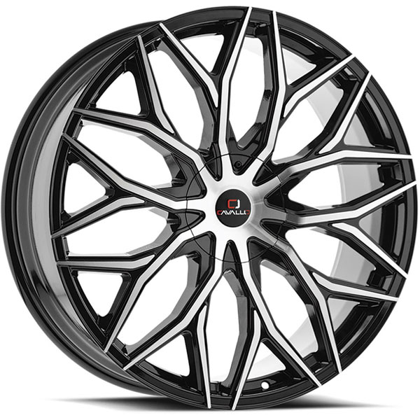 Cavallo CLV-37 Gloss Black Machined