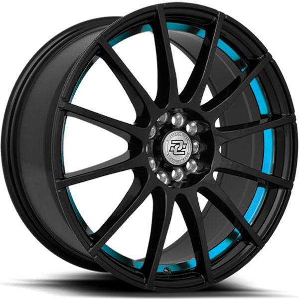 Drag Concepts R16 Gloss Black with Blue Stripe