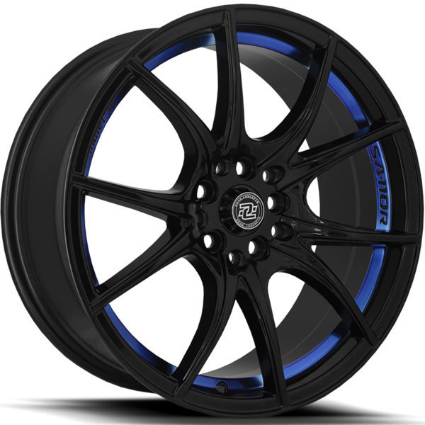 Drag Concepts R27 Gloss Black with Blue Undercut