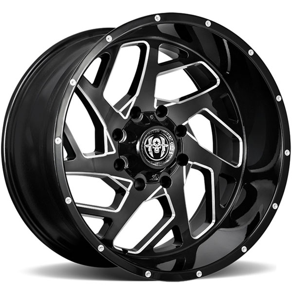 Hardcore Off-Road HC09 Rock Solid Gloss Black Milled