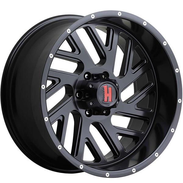 Havok Off-Road H110 Matte Black with Milled Rivets