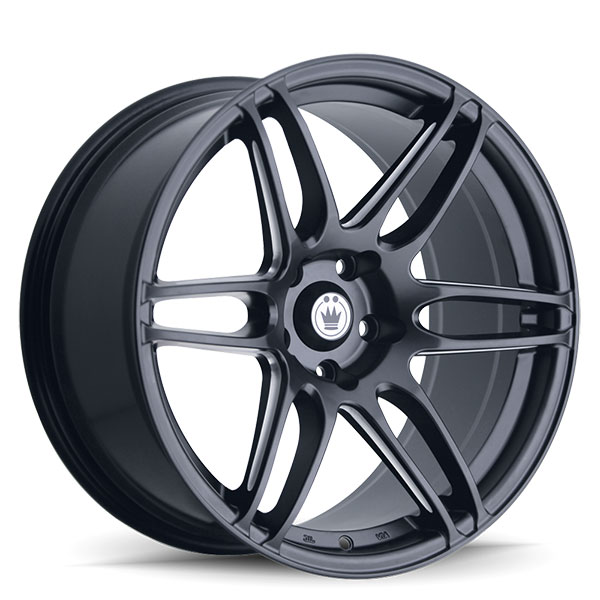 Konig Deception Matte Black with Ball Cut Machined Spokes