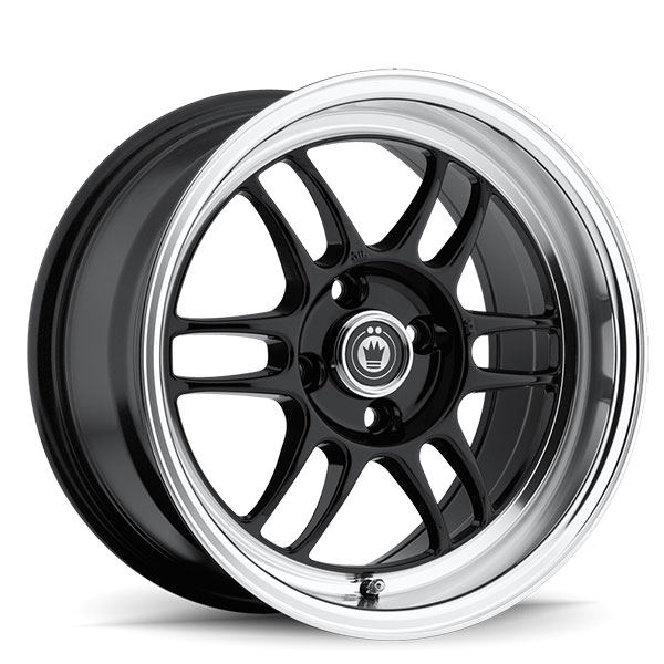 Konig Wideopen Gloss Black with Machined Lip