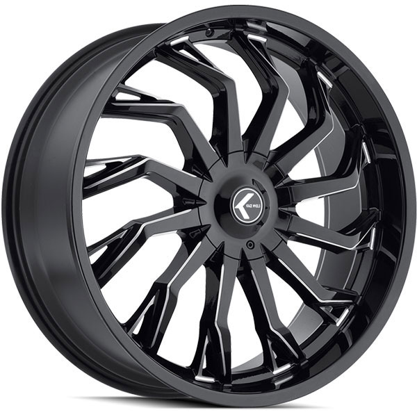Kraze 142 Scrilla Gloss Black Milled