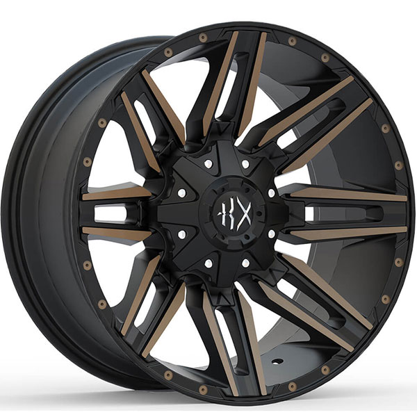 KX Offroad KX10 Matte Black with Machined Face and Bronze Tint