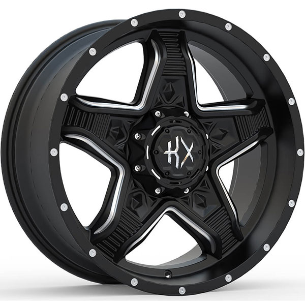 KX Offroad KX14 Matte Black with Milled Spokes