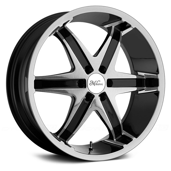 Milanni Kool Whip 6 446 Gloss Black with Machined Face
