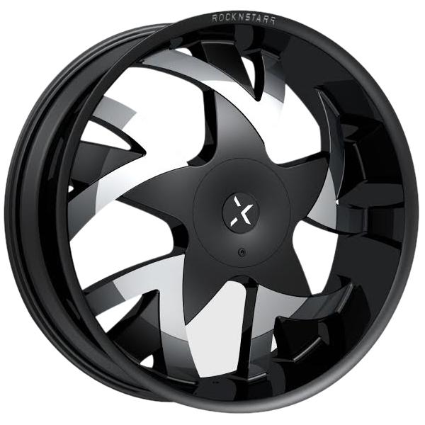 Rockstarr 962 Stones Black with Chrome Inserts