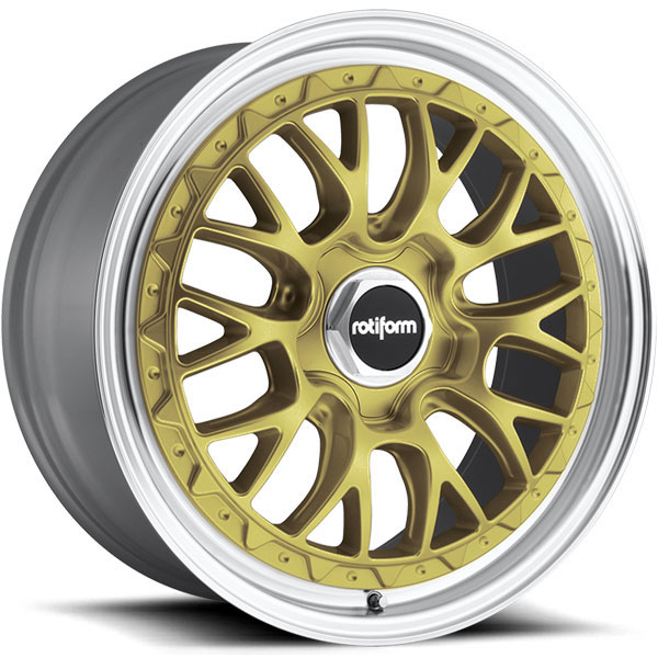 Rotiform LSR Gold with Machined Lip