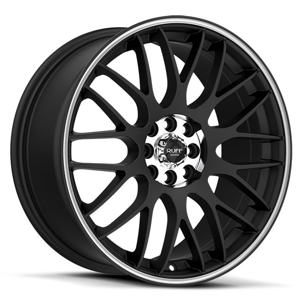 Ruff Racing R355 Flat Black with Machined Center and Pin