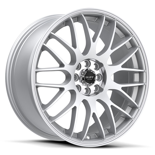 Ruff Racing R355 Hyper Silver with Machined Pin Stripe
