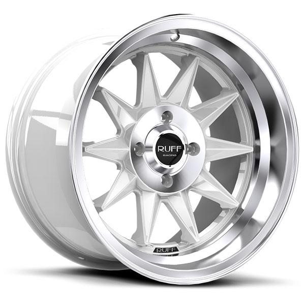 Ruff Racing R358 Gloss White with Machined Lip