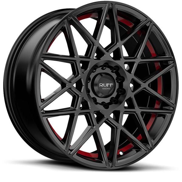 Ruff Racing R365 Satin Black with Red Undercut