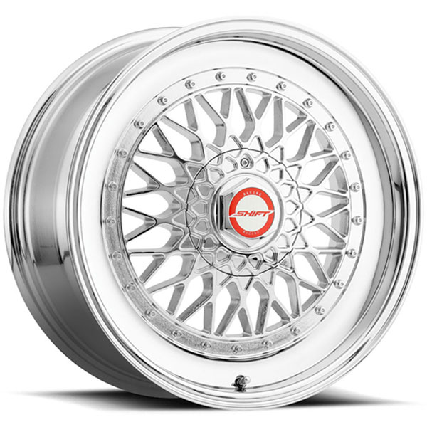 Shift Clutch White with Polished Lip