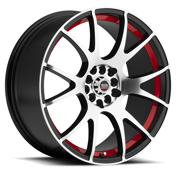 Spec-1 SP-2 Gloss Black with Machined Face and Red Insert
