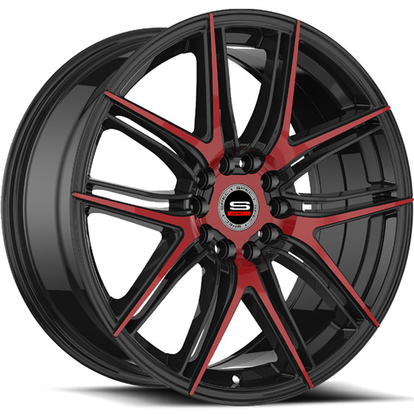Spec-1 SP-56 Gloss Black with Red Milled Spokes