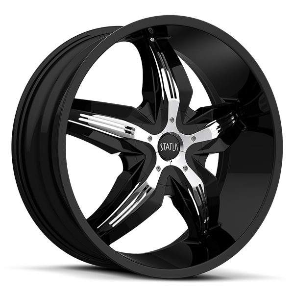 Status S822 Dystany Black with Chrome Inserts