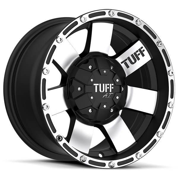 Tuff T02 Flat Black with Machined Face