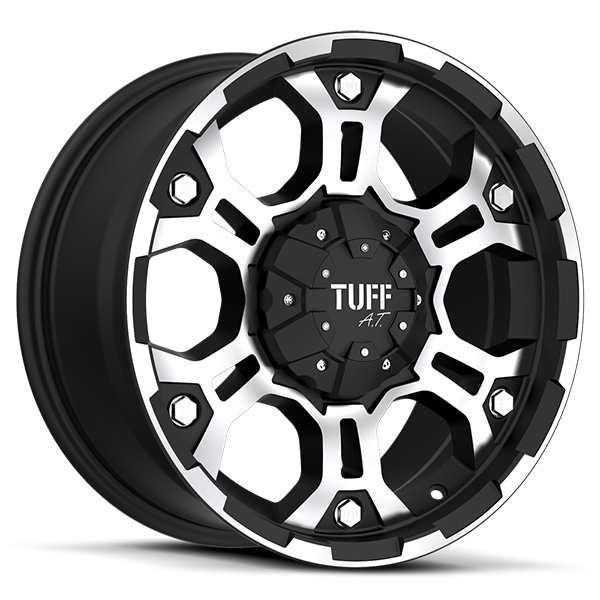 Tuff T03 Flat Black with Machined Face