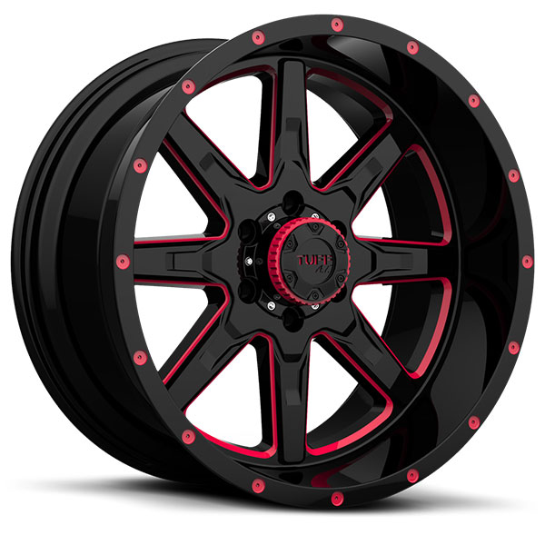 Tuff T15 Gloss Black with Red Inner