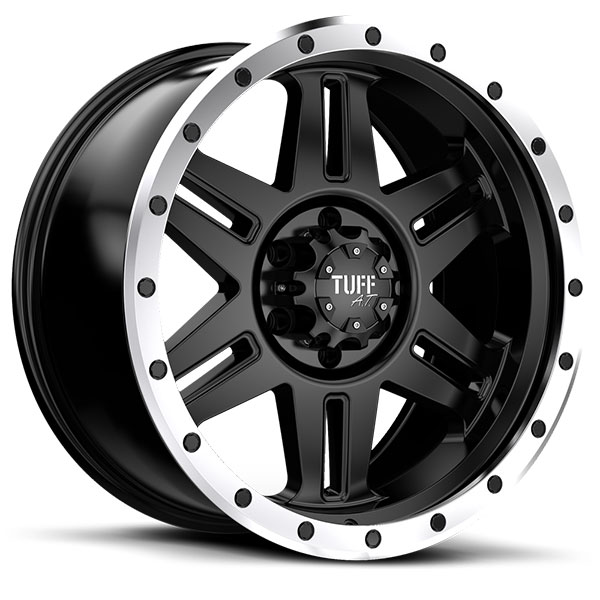 Tuff T16 Satin Black with Machined Flange