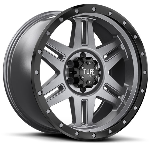 Tuff T16 Satin Gunmetal with Satin Black Flange