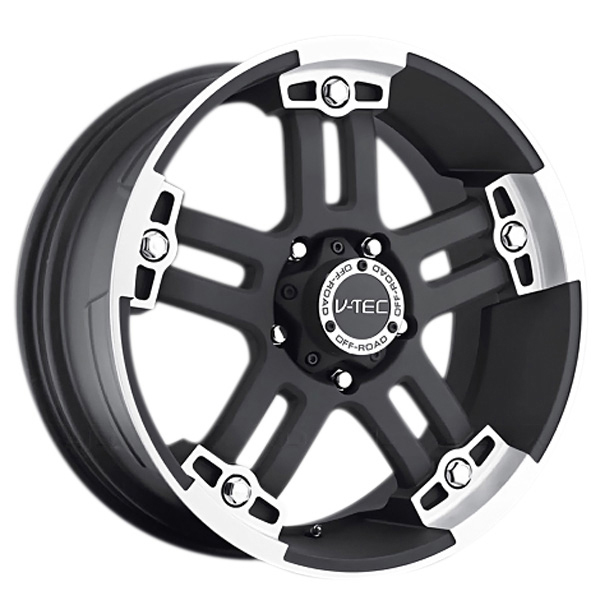 V-Tec 394 Warlord Matte Black with Machined Face