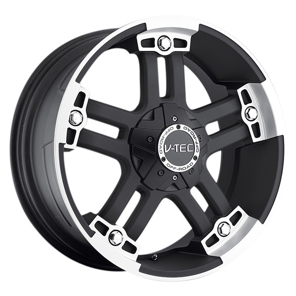 V-Tec 394 Warlord Matte Black with Machined with Optional Cap