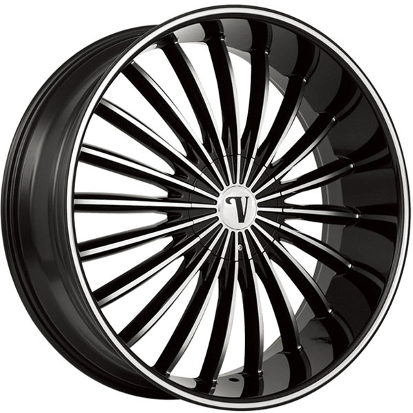 Velocity VW 11 Black with Machined Face and Stripe