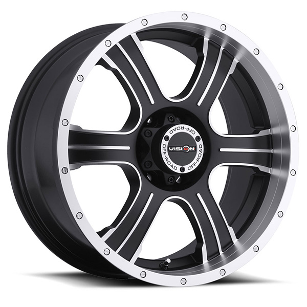 Vision Off-Road 396 Assassin Matte Black with Machined Face