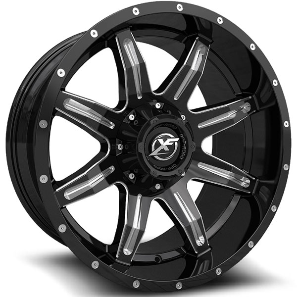 XF Off-Road XF-215 Gloss Black with Milled Spokes